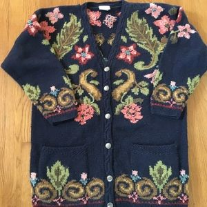 Vintage Laura Ashley Sweater Beautiful Embroidery